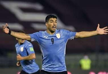 Luis Suárez, delantero de la selección uruguaya. Foto: AFP