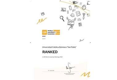 La UCB se sitúa en el puesto 1.255 del  Ranking QS mundial 2022