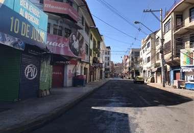 En Cochabamba los mercados permanecieron cerrados (Foto: Humberto Aillón)