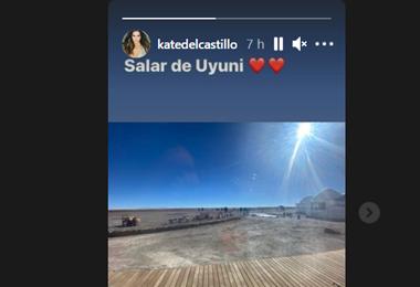 Kate del Castillo difundió en sus redes sociales una foto del salar de Uyuni