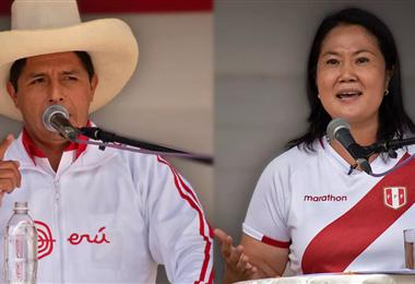 Pedro Castillo y Keiko Fujimori  disputan la presidencia de Perú