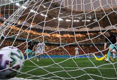 Michael Gregoritsch marcó el segundo gol de Austria. Foto: AFP
