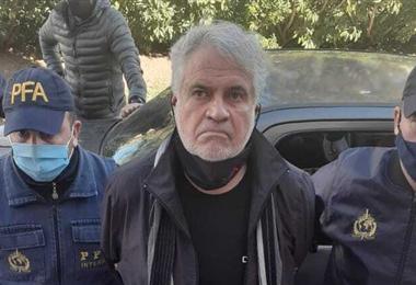 Walther Klug Rivera durante su detención en Argentina