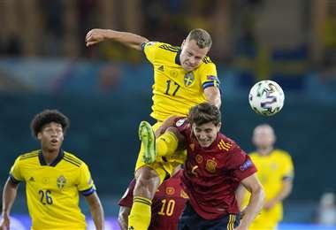 España y Sucia empataron este lunes por la Eurocopa. Foto: AFP