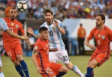 Argentina perdió dos finales seguidas (2015 y 2016) de la Copa ante Chile. Foto: Internet