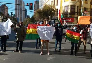 Las protestas en la sede de Gobierno I AMN.
