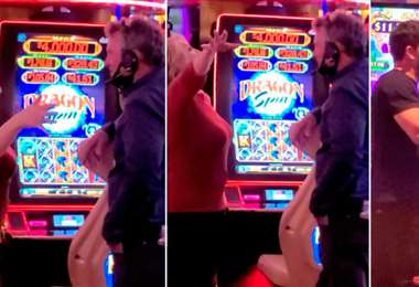 El actor y la madre de su novia juegan en un casino