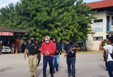 El extranjero fue entregado esta mañana a la Policía Federal de Brasil, en Puerto Quijarro