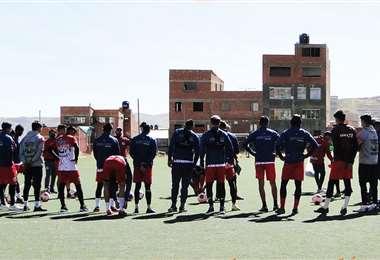 Nacional Potosí retomó su preparación el lunes. Foto: NP