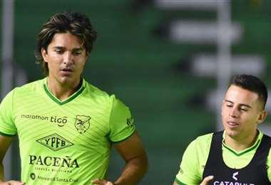 Marcelo Martins y Henry Vaca, dos ausentes en la Verde ante Paraguay. Foto: FBF