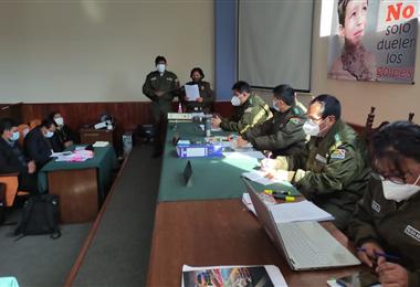 El juicio en contra de la policía Cecilia Calani se lleva a cabo en Sucre. Foto. William