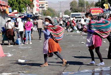 Cochabamba es una de las ciudades del interior más afectada. Foto. APG
