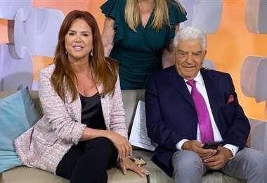 María Celeste Arrarás y Don Francisco juntos en una imagen difundida por CNN en Español