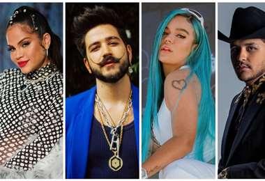 Natti Natasha, Camilo, Karol G y Christian Nodal, entre los más nominados