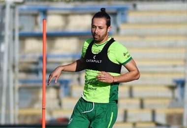Óscar Ribera, en el trabajo de la selección nacional. Foto: FBF