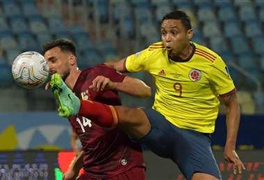 Colombia y Venezuela se enfrentan a Goiania. Foto: AFP