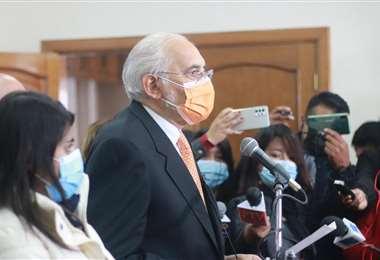 El expresidente Mesa en conferencia de prensa I CC.