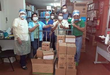 Hospitales de Santa Cruz, La Paz y Cochabamba se beneficiaron