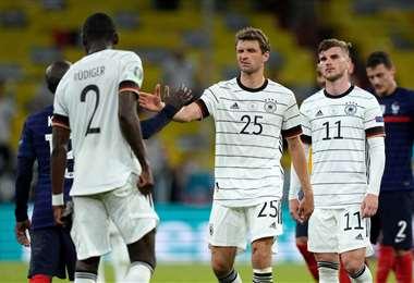 Alemania viene de perder a manos de Francia. Foto: AFP