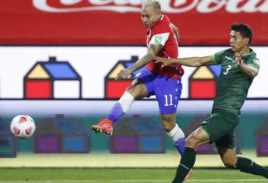 Chile y Bolívar se enfrentaron el 8 de junio por las Eliminatorias. Foto: internet