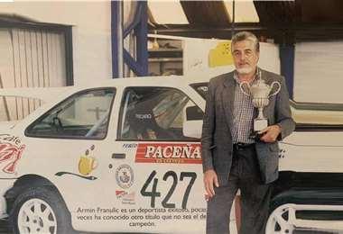 Franulic fue ocho veces campeón nacional de automovilismo