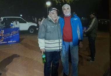 Chichi Santos, presidente de Adecruz, con Armin Franulic. Foto: CS