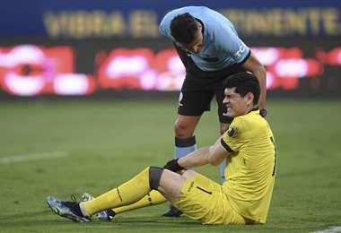 Carlos Lampe fue titular este viernes en la selección. Foto: AFP