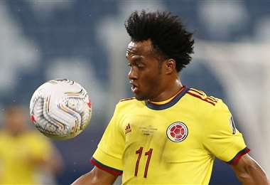 Juan Guillermo Cuadrado, lateral de la selección colombiana. Foto: AFP