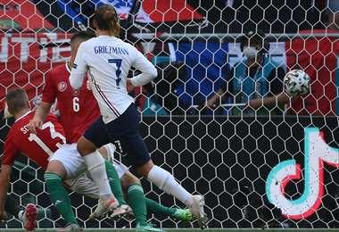 El gol de Griezmann, que fue el del empate ante Hungría. Foto: AFP
