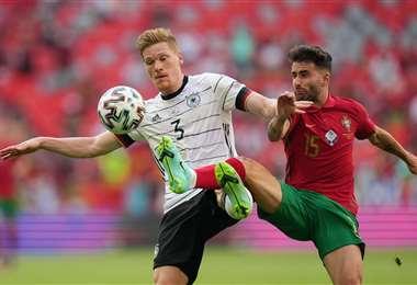 Alemania y Portugal se enfrentaron este sábado en Múnich. Foto: AFP