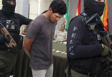 Foto archivo El Deber: Antonio Aguilar fue detenido y presentado a los medios el 2020