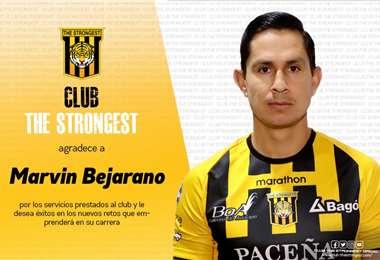 Marvin Bejarano estuvo en el Tigre cinco temporadas y media. Foto: TS