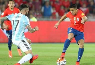 En las eliminatorias a Rusia 2018, Argentina le ganó (1-0) a Chile de local. Internet