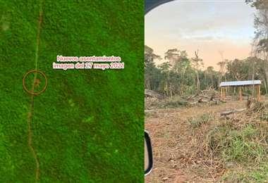 Las imágenes fueron compartidas por los cívicos de las zonas afectadas
