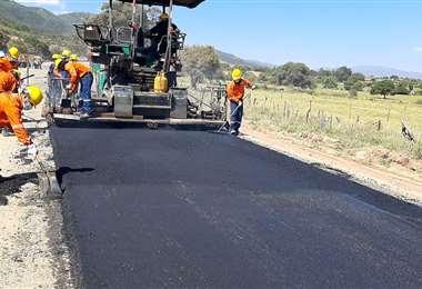 Según el Gobierno, el sector más beneficiado es el de la construcción/Foto: ABI
