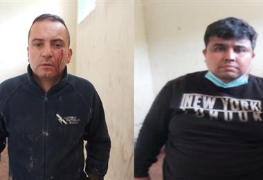 Los dos colombianos fueron enviados con detención a la cárcel de Palmasola.