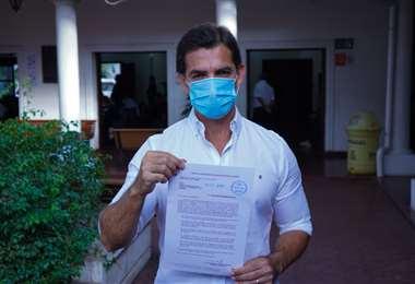 Manuel Saavedra presentó ayer su proyecto de ley al Concejo Municipal.