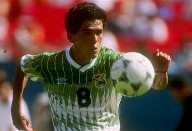 Milton Melgar con la casaca de Bolivia en las eliminatorias de 1993. Foto: Internet