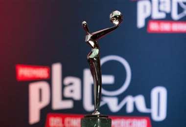 Este es el trofeo que se llevan los ganadores de este concurso de cine