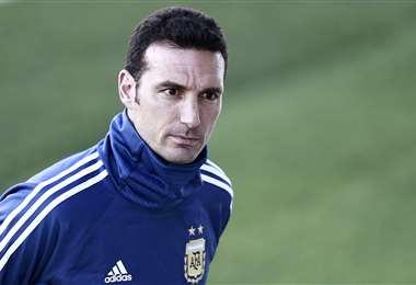 Lionel Scaloni, entrenador de la selección argentina. Foto: AFP