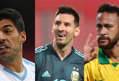 Suárez, Messi y Neymar están para jugar con sus selecciones. Foto: Internet