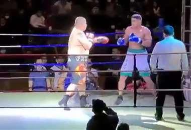 Farah y Tavares (der) pelearon el sábado en Cobija.
