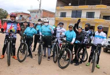 Ciclistas  se movilizaron en la solidaridad para pacientes Coivd-19
