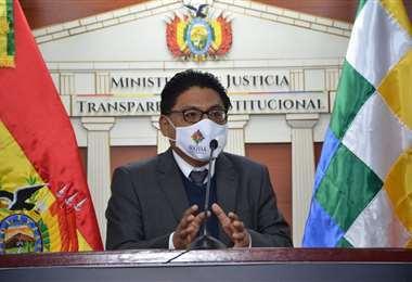 El ministro de Justicia se refirió a los supuestos audios del exministro de Defensa