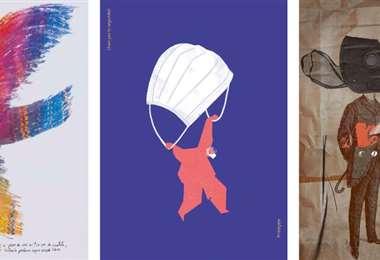 Algunos de los trabajos de diseñadores gráficos bolivianos