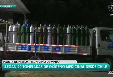 El cargamento de oxígeno en Cochabamba I captura.