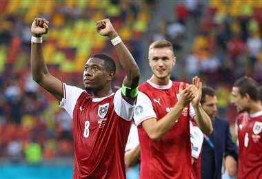 David Alaba, capitán de la selección de Austria. Foto: AFP