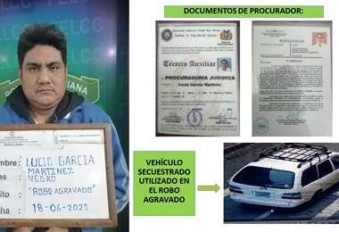 El recluso fue capturado por la Policía Foto: Felcc