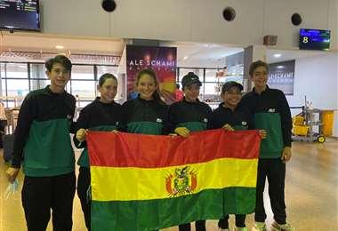 El equipo boliviano de tenis que participará en e Sudamericano sub-14
