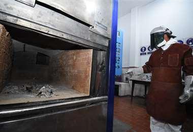 El horno de cremación de La Paz I AMN.